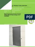 Blast Door Frame Assembly