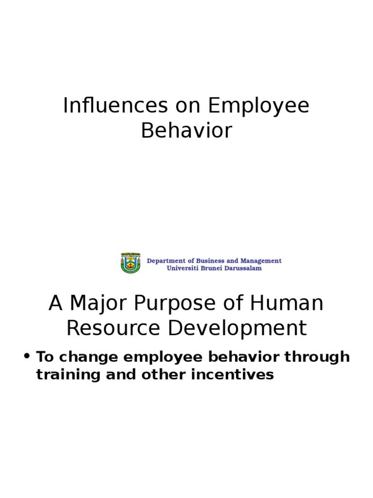 lecture employee behavior