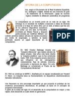 Historia de La Computacion Unico