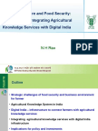 Digital Agriculture and Food Security