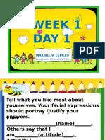 English Week 1 Day 1 k-12