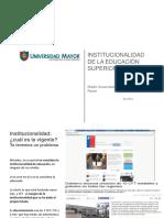 Institucionalidad de La Educación Superior en Chile Dic2014 v 2