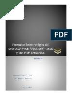 Formulación Estratégica Del Producto MICE