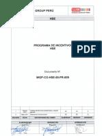 WGP-CO-HSE-00-PR-009 Programa de Incentivos HSE Rev 1