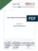 WGP-CO-HSE-00-PR-011 Procedimiento de Uso y Manejo de Sustancias Químicas Rev 0