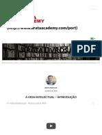 A Vida Intelectual - Introdução