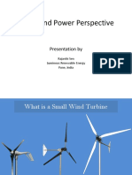 Small Wind Power Perspective