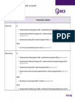 AssocRICS Direct Entry Qualifications - June 2015