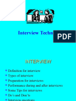 Interview Techniques for All Branches