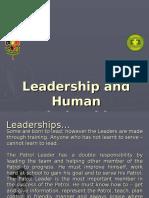 Leadership and Human Relationships - The Patrol Leader's Job