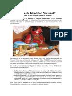 Identidad Nacional de Honduras