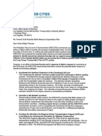 Westside Cities Council of Governments Letter to Amend PBM