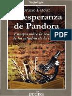 Latour - 2001 - LA ESPERANZA DEPANDORA de Los Estudios de La Ciencia Bruno Latour