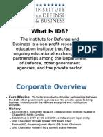 IDB Learn More Tutorial