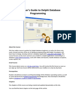 Beginner's Guide to Delphi Database Programming | Microsoft Access
