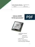 informe de  microprocesador