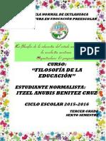 La Filosofía de La Educación Del Estado Nacional Surgido de La Revolución Mexicana