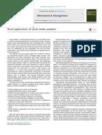 Novel Applications of Social Media Analytics