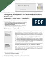 Comunicacion Medico-paciente. Competencias Basicas