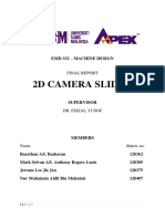 Group 15 EMD332 Machine Design Report - 2D Camera Slider
