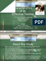 12 Characteristics of an Effective Teacher