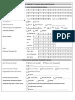 Formulir Penanaman Modal Excel