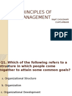 Principles of Management MCQ