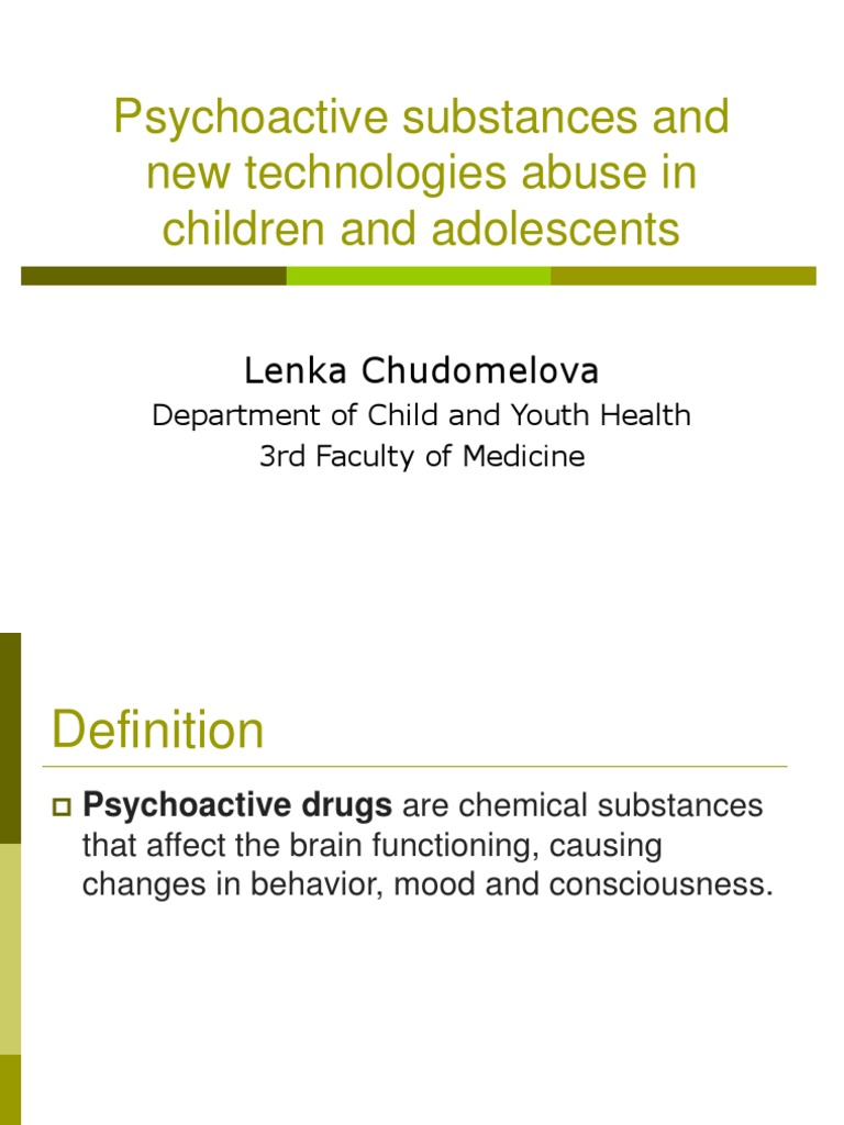 psychoactive substance abuse in children and youth | psychoactive
