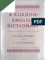 Kurdish English Dictionary TaufiqWahby CJEdmonds