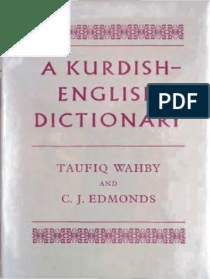 Kurdish English Dictionary TaufiqWahby CJEdmonds | Verb
