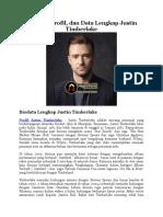Biodata, Profil, dan Data Lengkap Justin Timberlake