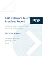 2015 Delaware Talent Practices Report_Executive Summary