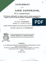Humboldt Notice Grammaire Japonaise