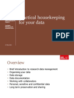 Practical Housekeeping for Your Data