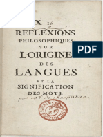 Maupertuis Réflexions Philosophiques Sur Lorigine Des Langues9