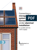 Connecting a microgeneration system to a domestic or similar electrical installation