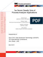 Seven Deadly Sins of Process Analyzer Applications