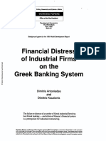 1990 - Worldbank - Financial Distress of Industrial Firms and the Greek Banking System