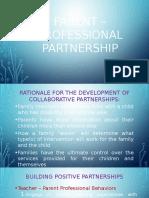 Parent – Professional Partnership