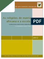 As Religiões de Matriz Africana e a Escola Apostila