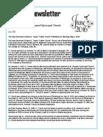June 2016 Emmanuel Episcopal Church Newsletter