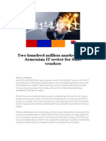 Two Hundred Million Market in the Armenian IT Sector for SaaS Vendors