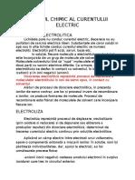 Efectul chimic al curentului electric