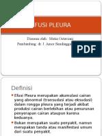 Efusi Pleura Referat PPT
