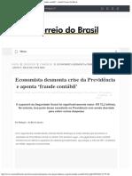 Economista Desmonta Crise Da Previdência e Aponta 'Fraude Contábil' - Jornal Co