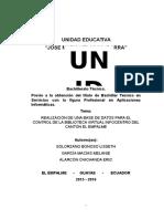 Base de Datos Infocentros