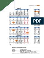 Calendario Normal y Judicial 2016