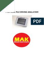 Proposal Pile Driving Analayzer v2.0