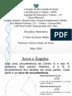 Trigonometria Aula 03 - Arcos e ângulos