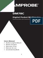 Amprobe DM78C User Manual